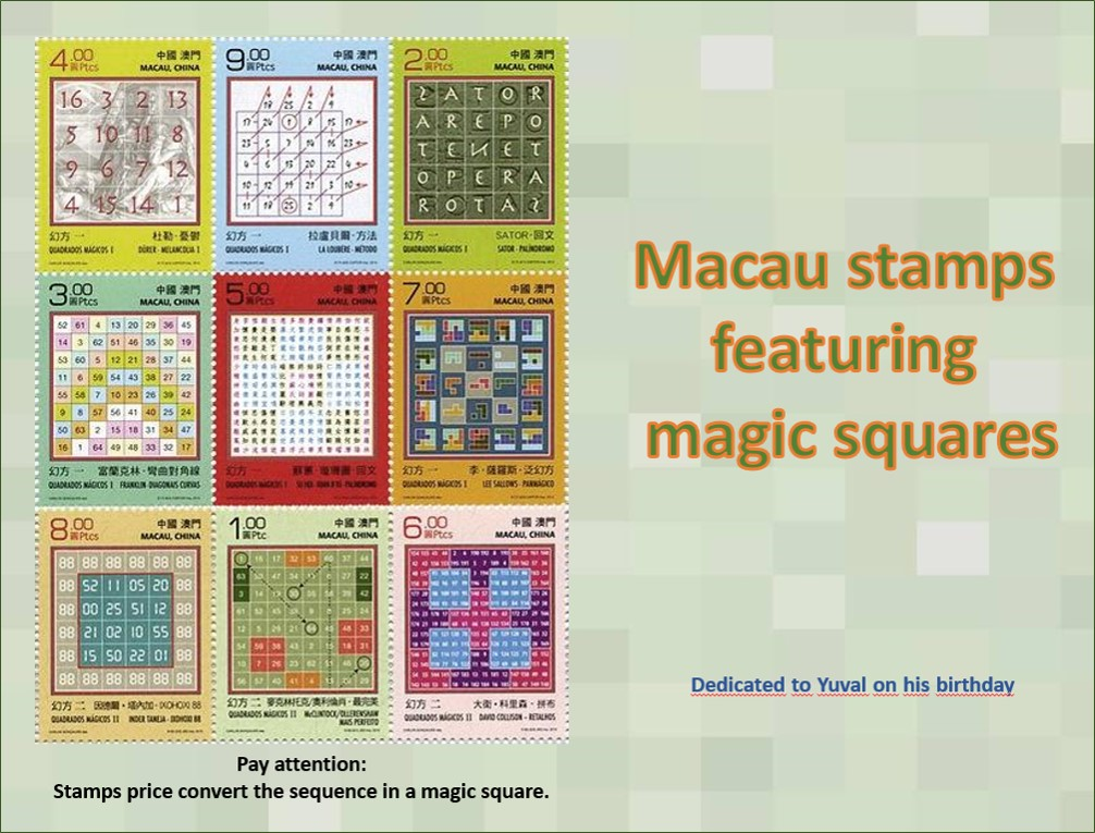 Magic squares<BR/>Macau stamps